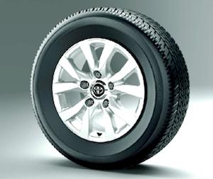 ランドクルーザー200標準装備タイヤサイズ