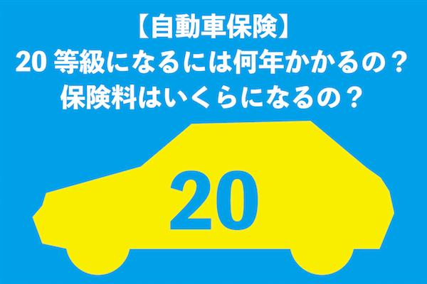【自動車保険】20等級になるには何年かかるの?