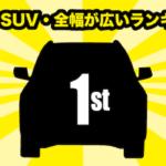 国産車SUV・全幅(車幅)が広いランキング
