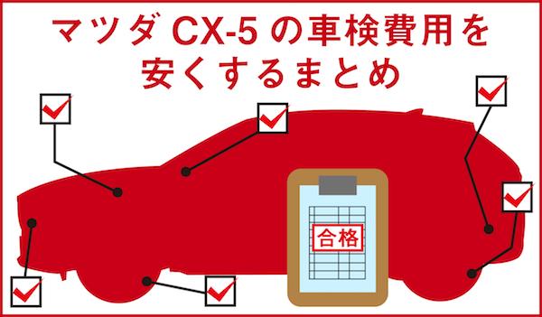 マツダCX-5の車検費用を安くする