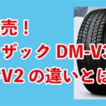 ブリヂストン・ブリザックDM-V3とDM-V2の違い